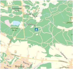 kort over Velling Skov